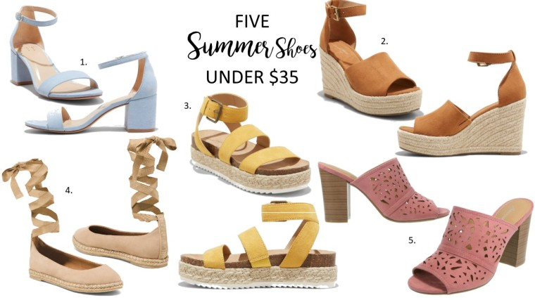 5 smmer shoes