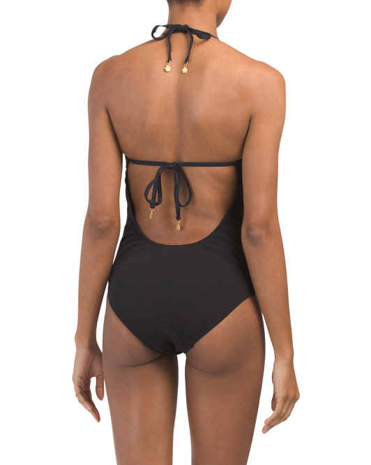 black scalloped edge one piece back 29.99