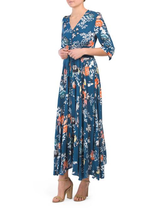 blue floral maxi dress 24.99