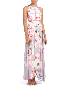 gray flora maxi dress halter top 24.99