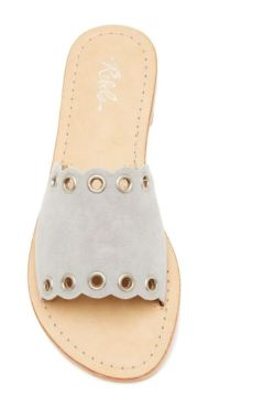 gray scallop sandal