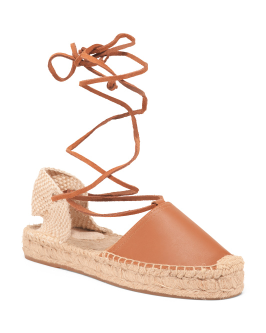 leather espadrilles $39.99
