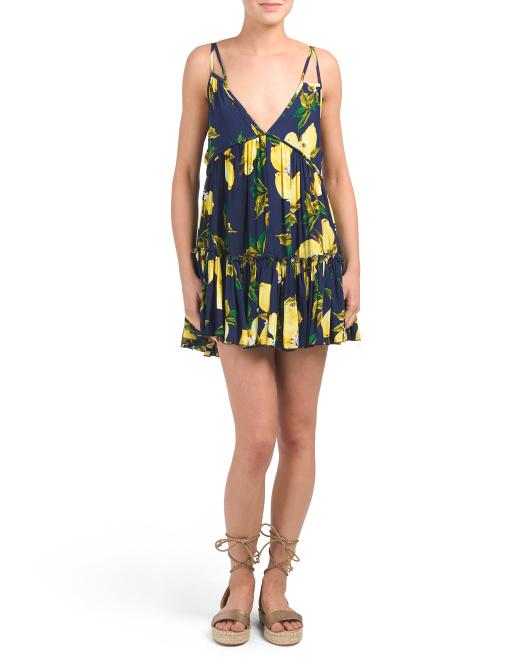 lemon print dress 19.99 blue