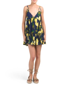 lemon print dress 19.99 blue