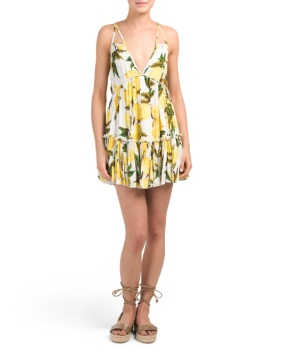 lemon print dress 19.99 yellow
