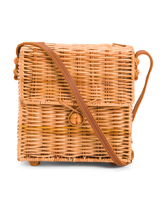 rattan cross body bag 29.99