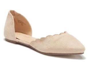 scallop pointy flat nude