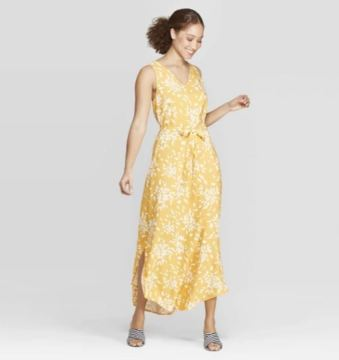 yellow floral midi dress.JPG